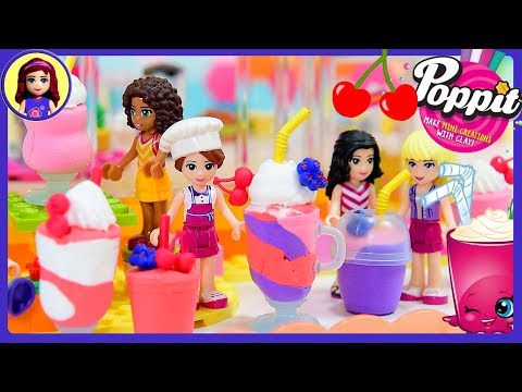 Poppit Smoothies Milkshakes with Lego Friends DIY Clay Craft Kids Toys - UCENdAUC6K56fiTORZBTqt8A