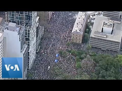 Thousands Rally for Action on Climate Change in Australia