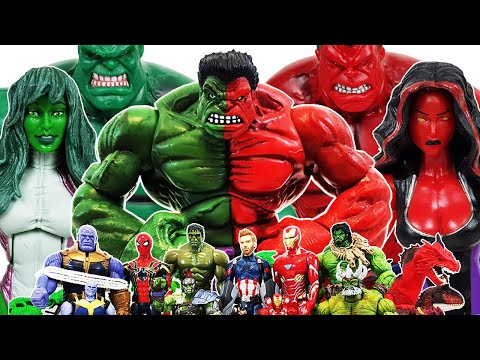 Avengers vs Thanos! Go~! Iron Man, Captain America, Spider-Man, Venom, Hulk, She-Hulk - UCiRw9xGyL2b6lYfWR1ASIaA