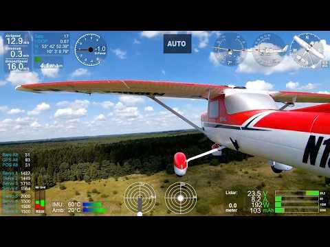 Arduplane Pixhawk 2.1 automatic takeoff, flight landing E-Flite Carbon-Z Cessna 150 + Dashware - UC2uw9zcnwj2rT7xqd9gCrMQ
