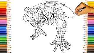 SPIDER-MAN In Classic Suit | Spider-Man Coloring Pages