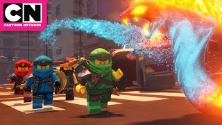 Fire Serpents in Ninjago City | Ninjago | Cartoon Network