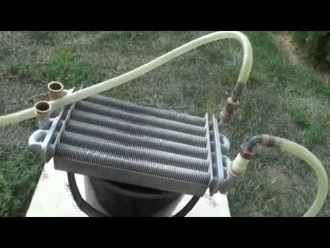 Пластинчатый теплообменник газового котла