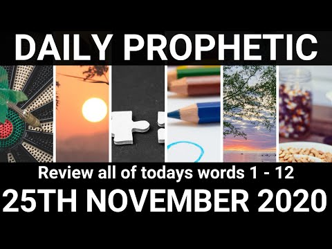 Daily Prophetic 25 November 2020 All Words
