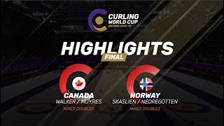 HIGHLIGHTS: Norway v Canada – Mixed Doubles final - Curling World Cup Grand Final - Beijing, China