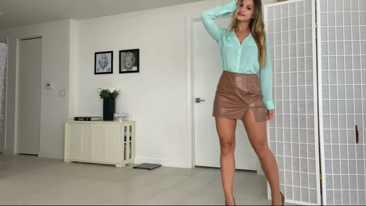 Office Looks with Leather Skirts Try On Haul