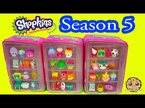 Season 5 Shopkins + Season 4 12 Pack Unboxing in Vending Machines - Cookieswirlc Video - UCelMeixAOTs2OQAAi9wU8-g