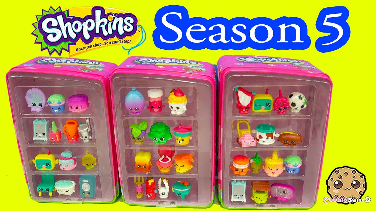 Season 5 Shopkins 4 12 Pack Unboxing In Vending Machines