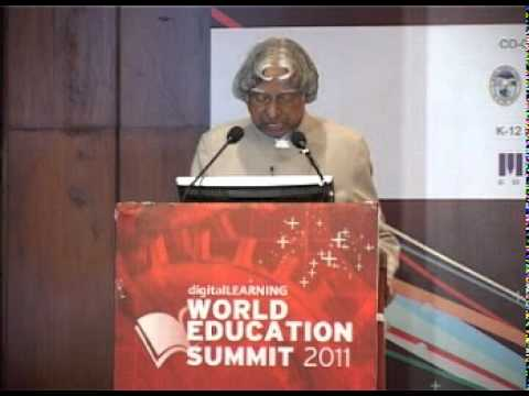 World Education Summit 2011- Address by Dr. APJ Abdul Kalam