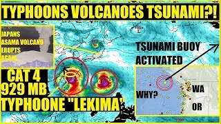 MAJOR TYPHOON LEKIMA JAPAN VOLCANO ASAMA ERUPTS TSUNAMI BUOY ACTIVATED WASHINGTON Manhattan Backfire