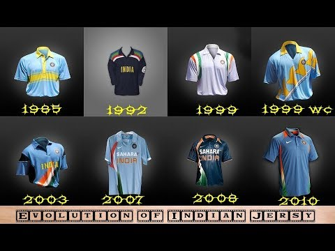 Indian Cricket team Jersey Revolution in 1985-2019 Full video |#indiacrickettv
