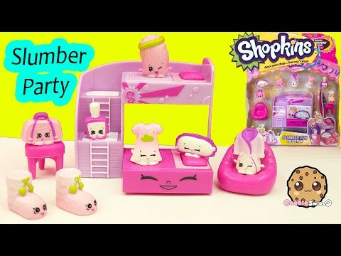 Shopkins Season 5 Playset Slumber Party Fun Collection  Cookieswirlc Video - UCelMeixAOTs2OQAAi9wU8-g