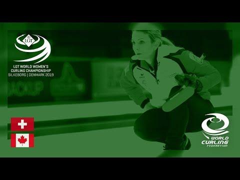 Switzerland v Canada - round robin - LGT World Women's Curling Championships 2019