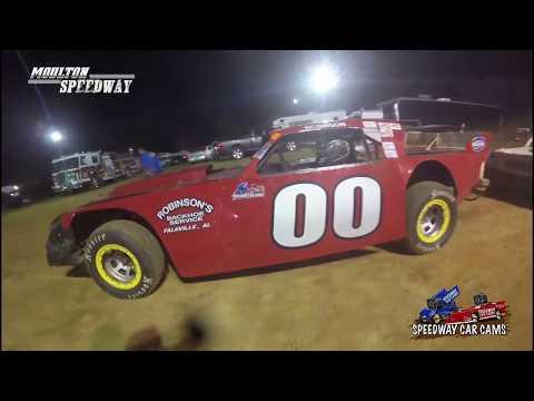 #00 Bobbyjo Robinson - Street Stock - 3-17-18 Moulton Speedway - In Car Camera - dirt track racing video image