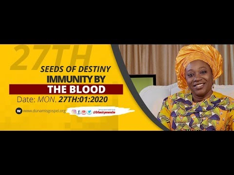 Dr Becky Paul-Enenche - SEEDS OF DESTINY  MONDAY 27TH JANUARY, 2020.
