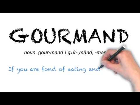 How to Pronounce 'GOURMAND'- English Grammar