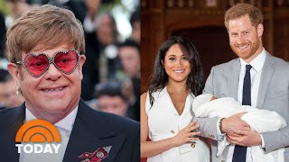 Elton John Defends Meghan Markle And Prince Harry, Says He Provided Private Jet | TODAY