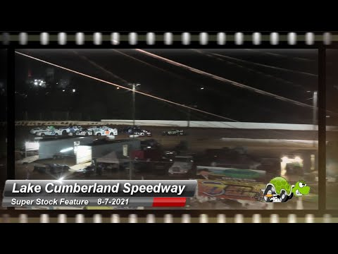Lake Cumberland Speedway - Super Stock Feature - 8/7/2021 - dirt track racing video image