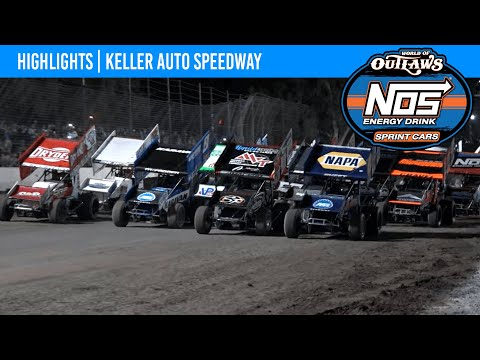 World of Outlaws NOS Energy Drink Sprint Cars Keller Auto Speedway, September 18, 2021 | HIGHLIGHTS - dirt track racing video image