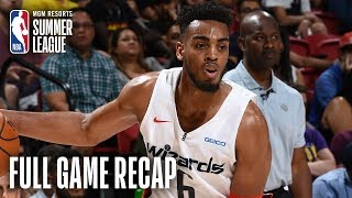 PELICANS vs WIZARDS | Tony Brown Jr. Records 18 Points & 15 Boards | MGM Resorts NBA Summer League