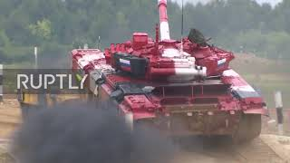 Russia: New record set by Russian team as hosts win in tank biathlon final