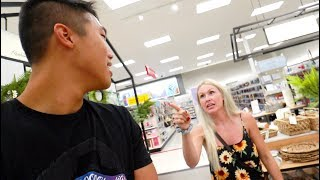 Married Couple Arguing In Target