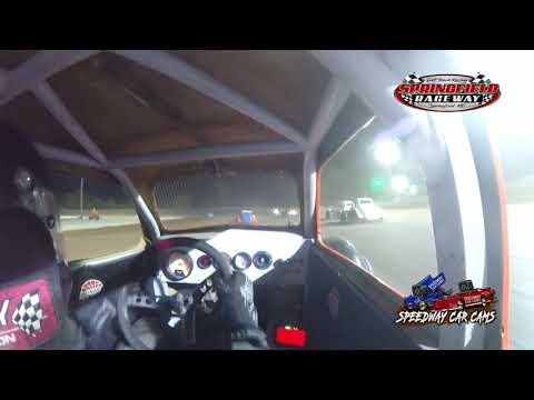 #00 Cason Harris - Legend - 8-14-2021 Springfield Raceway - In Car Camera - dirt track racing video image