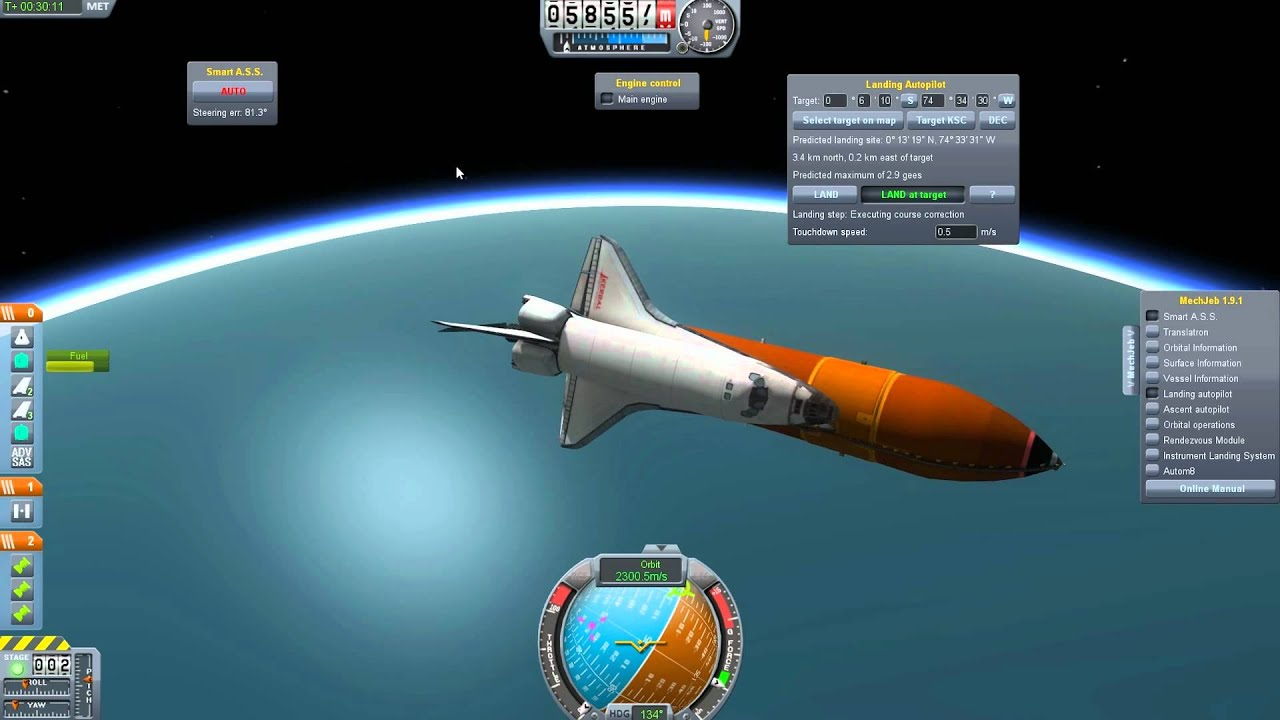 Kerbal Space Program Episode 9 - Space Shuttle Madness