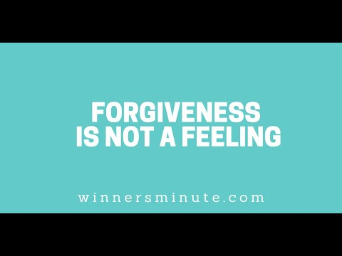 Forgiveness Is Not a Feeling // The Winner's Minute With Mac Hammond