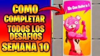 GUIA DE COMO COMPLETAR TODOS LOS DESAFIOS DE LA SEMANA 10 DE FORTNITE TEMPORADA 9