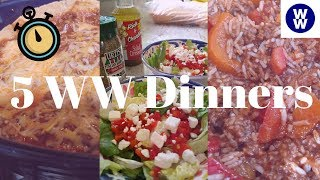 5 nights of WW Dinners under 5 points | Weight loss meals