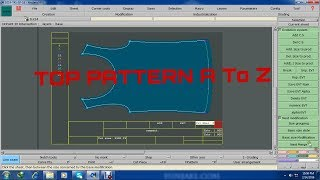 HOW TO MAKE A TOP PATTERN BY LECTRA SOFTWARE MODARIS_V7R2 (TAC Vlogs BD)