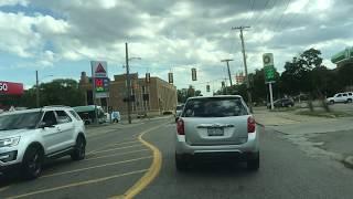 Driving in Detroit, Michigan, U.S.A. 🇺🇸