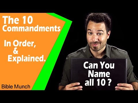 The 10 Commandments List  What are the Ten Commandments in the Bible