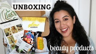 UNBOXING FREE BEAUTY PRODUCTS & REVIEW | Influenster GLOW Voxbox | Natalie Karina