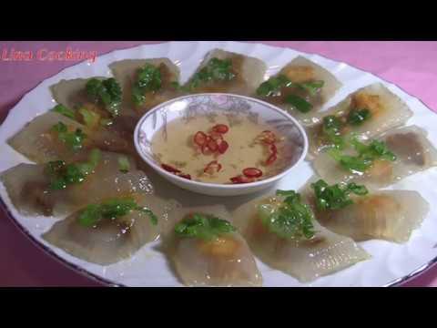BÁNH BỘT LỌC TÔM THỊT CẤP TỐC - không cần gói lá chuối , không cần nhồi bột    Lina Cooking