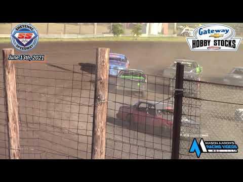Sheyenne Speedway Hobby Stock A-Main (6/13/21) - dirt track racing video image