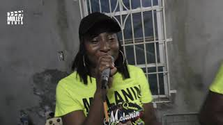 Melanin gearing up for the St. Kitts Music Festival for saturday night performance..