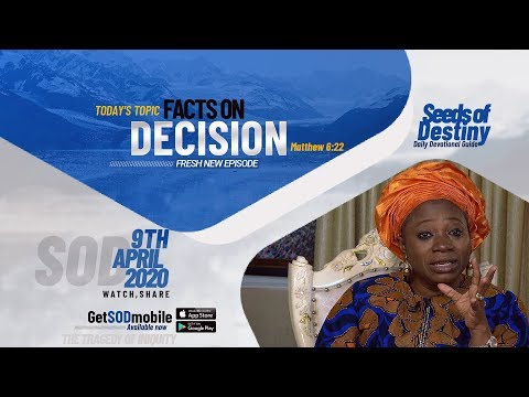 Dr Becky Paul-Enenche - SEEDS OF DESTINY  THURSDAY APRIL 9, 2020
