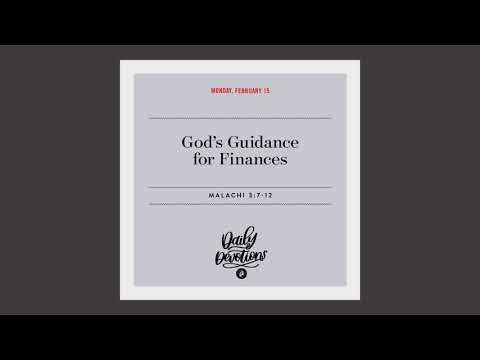 Gods Guidance for Finances  Daily Devotional