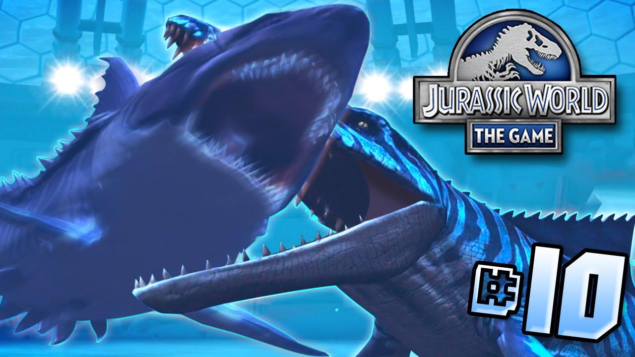 Mosasaur Vs Megalodon!! || Jurassic World - Lagoon Series