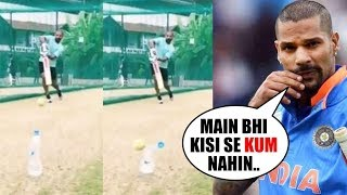 shikhar dhawan Aces #BottleCapChallenge in His BLASTING STYLE|