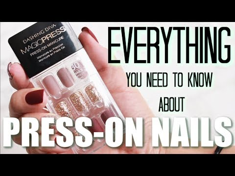How to Apply Press-On Nails   TIPS & TRICKS   Everything You Need to Know   Katie Marie