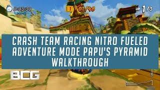 Papu's Pyramid All Trophy,Relic & Token Race Adventure Mode Crash Team Racing Nitro Fueled