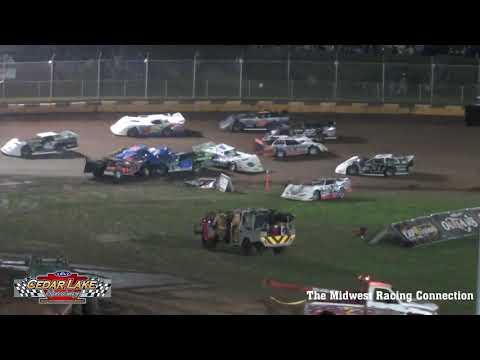USA Nationals Friday Win & Wreck Reel - Cedar Lake Speedway 08/06/2021 - dirt track racing video image