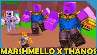 Marshmello & Thanos Dance Party in Roblox