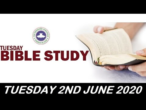 RCCG JUNE 2nd 2020 BIBLE STUDY  REPROGRAMMING YOUR THOUGHTS