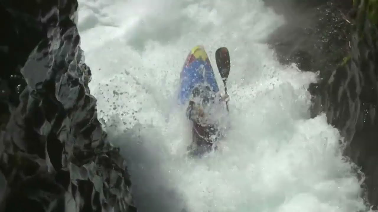 Kayaker performs 'world first' flip off waterfall