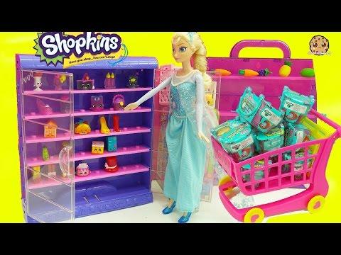 Glow In The Dark Shopkins + Frozen Queen Elsa Shopping For Surprise Blind Bags - UCelMeixAOTs2OQAAi9wU8-g