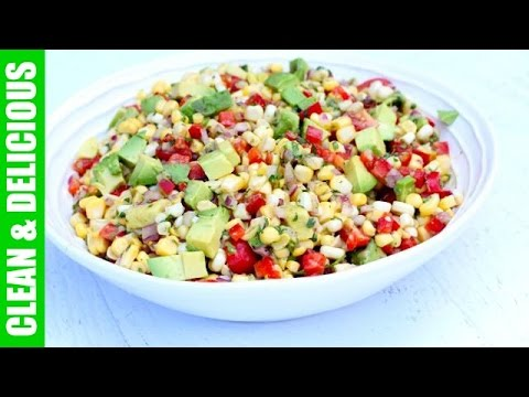 Healthy Summer Corn + Avocado Salad | Clean & Delicious - UCj0V0aG4LcdHmdPJ7aTtSCQ